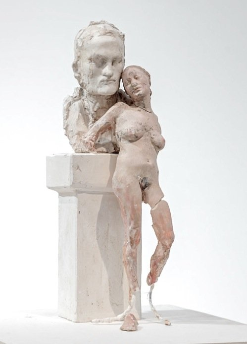 the young couple, plaster, height 32 cm, 2014
