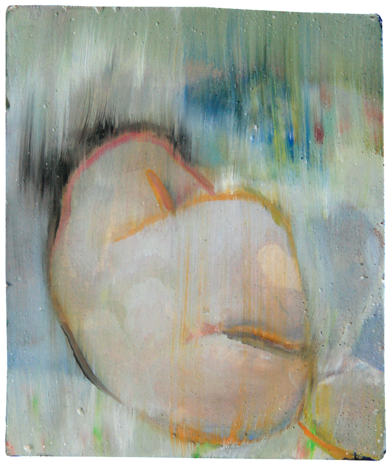 Not seen to sight, oil on plaster, 21×24 cm, 2008
