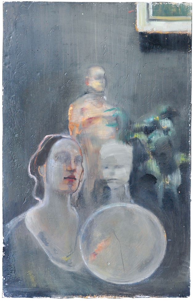 with Fred and Belinda oil on plaster, 2010