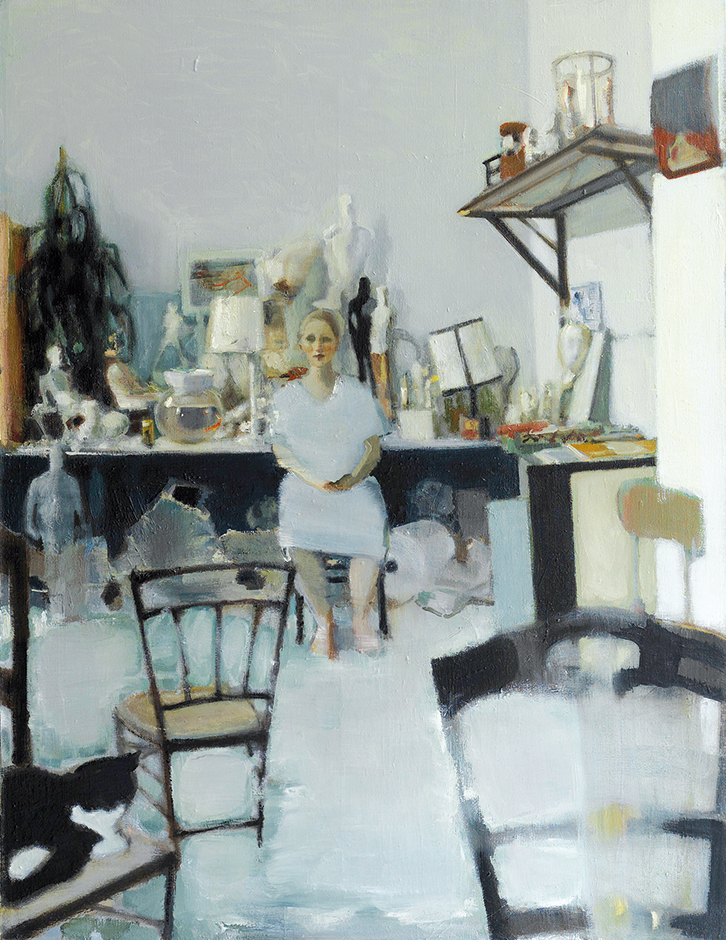 The Long Winter with Hanna and Lilly, oil on canvas, 89×117 cm, 2010