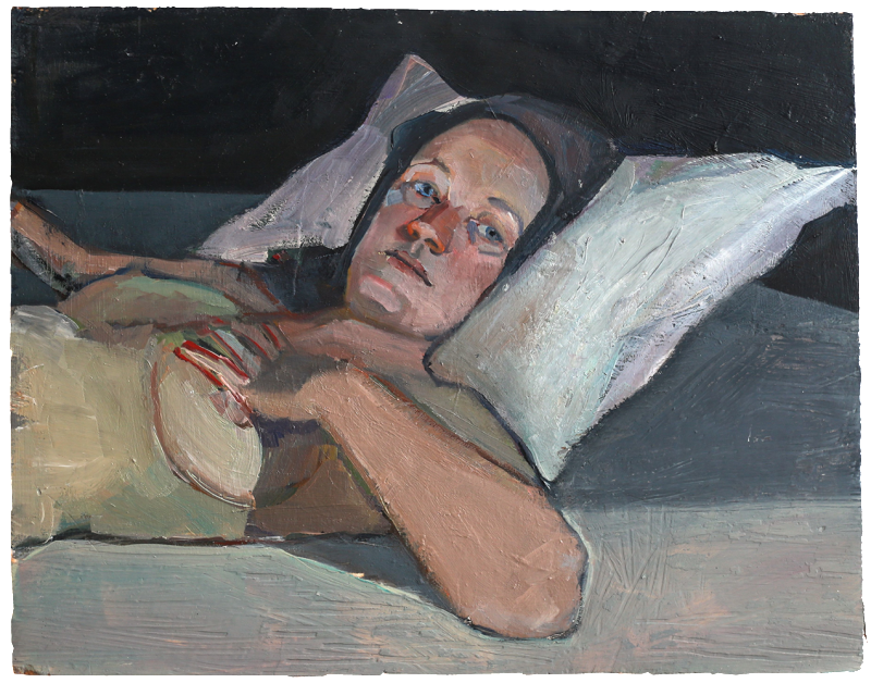 Jasmine (the shed two), oil on plaster, 56×44 cm 2013
