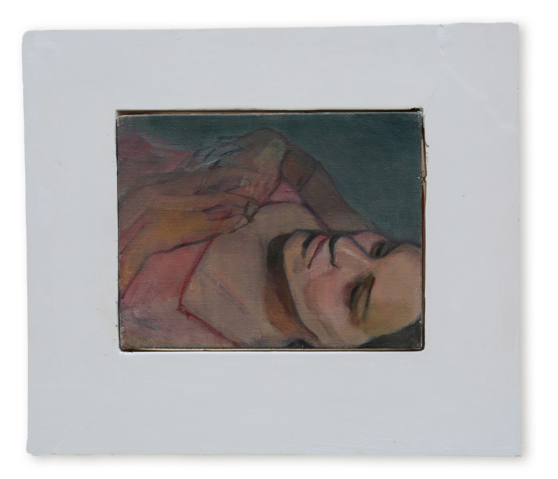 Molly, oil on canvas with plaster frame,  27x35 cm, 2015